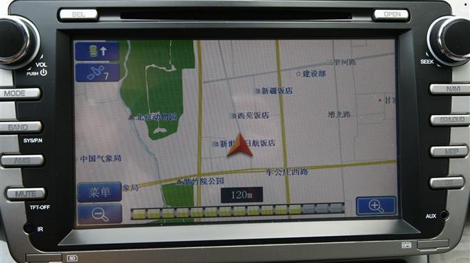中控台dvd屏幕导航界面